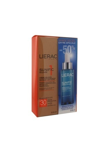 Lierac Sunific Crem SPF30 50ml - Aftersun Bakım Serum 30ml-Lierac